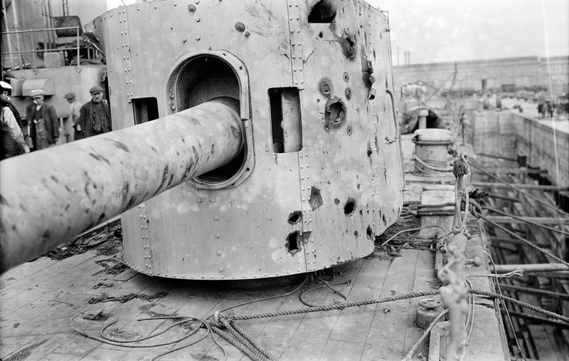 Damage to HMS Warspite