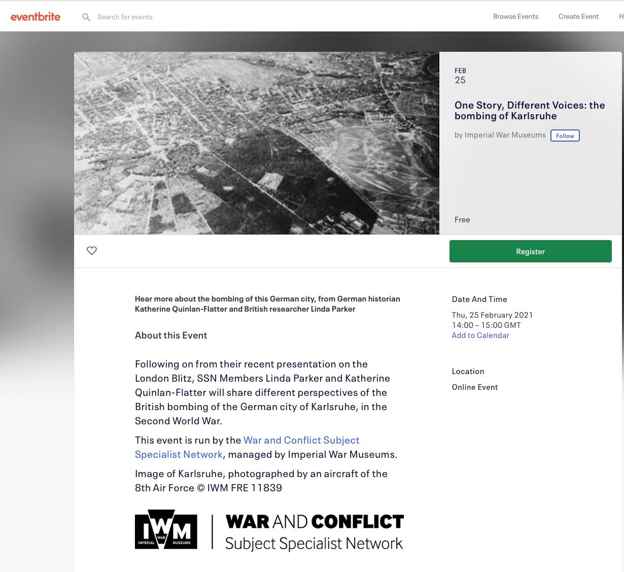 IWM Web presentation The Bombing of Karlsruhe