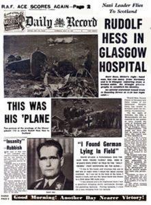 Hess trip to Scotland Newspaper